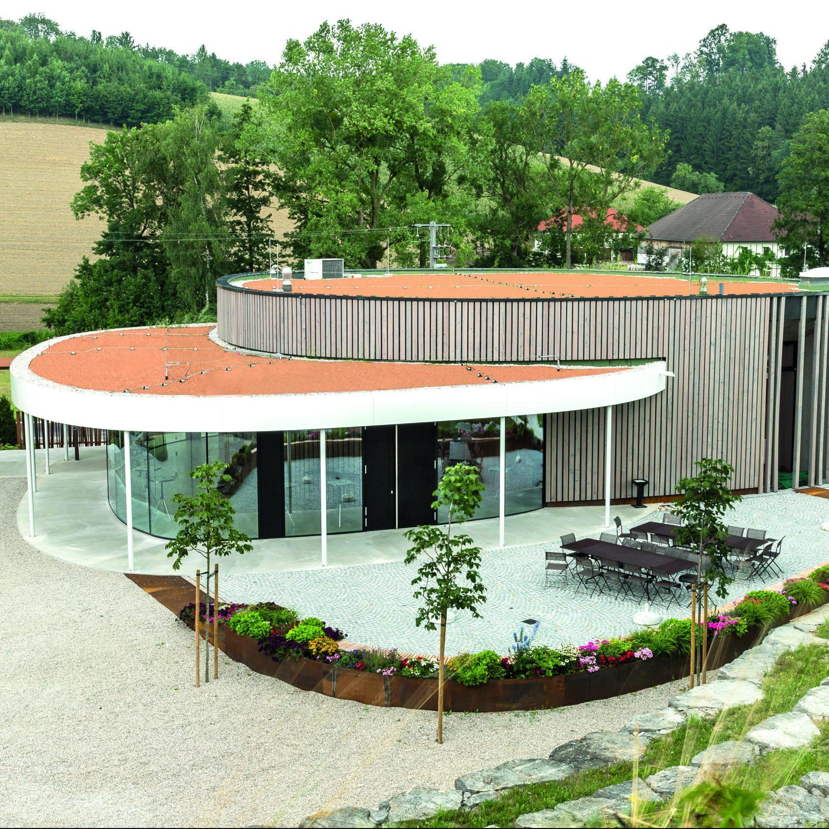 Vizualizace výrobní haly s administrativním zázemím Multikraft v Rakousku