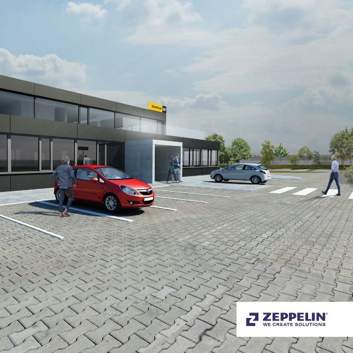 view of the visualization of the new building for Zeppelin SK